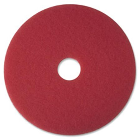 Buffer Pad, Removes Scuff Marks, 20 in., 5-CT, Red ()