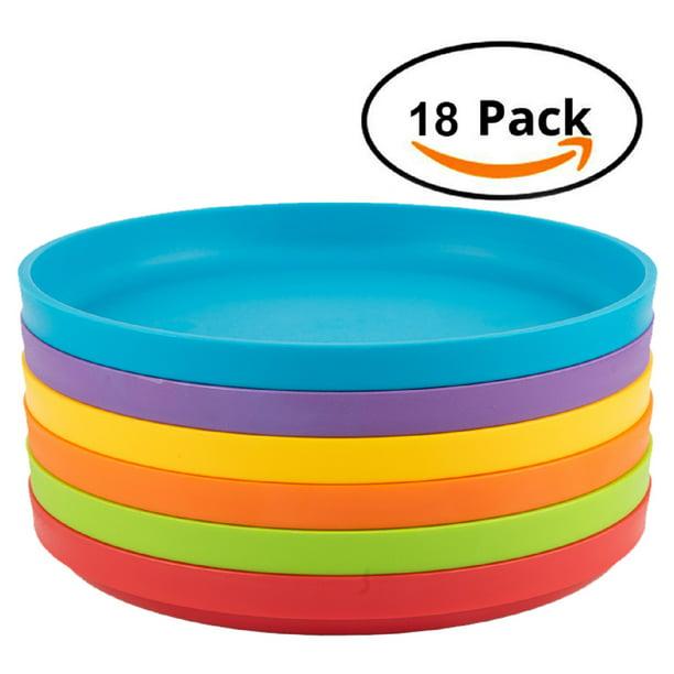 Plastic Plates For Kids 18 Piece Round