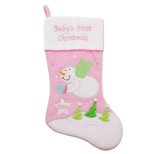 Northlight Seasonal Baby's First Christmas Velveteen Snowman Angel ...