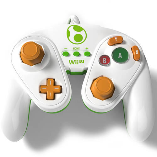 PDP Wired Fight Pad for Wii U, Yoshi