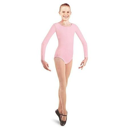 Danshuz Toddler Girls Pink Long Sleeve Dance Leotard Size 2/14 (Dance Leotard 4t)