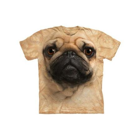 Pug Face Close Up Pet Dog Adult T-Shirt Tee
