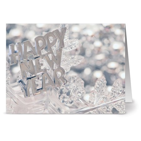 - 24 New Year's Note Cards - Shiny New Year - Blank Cards - Gray Envelopes Included
