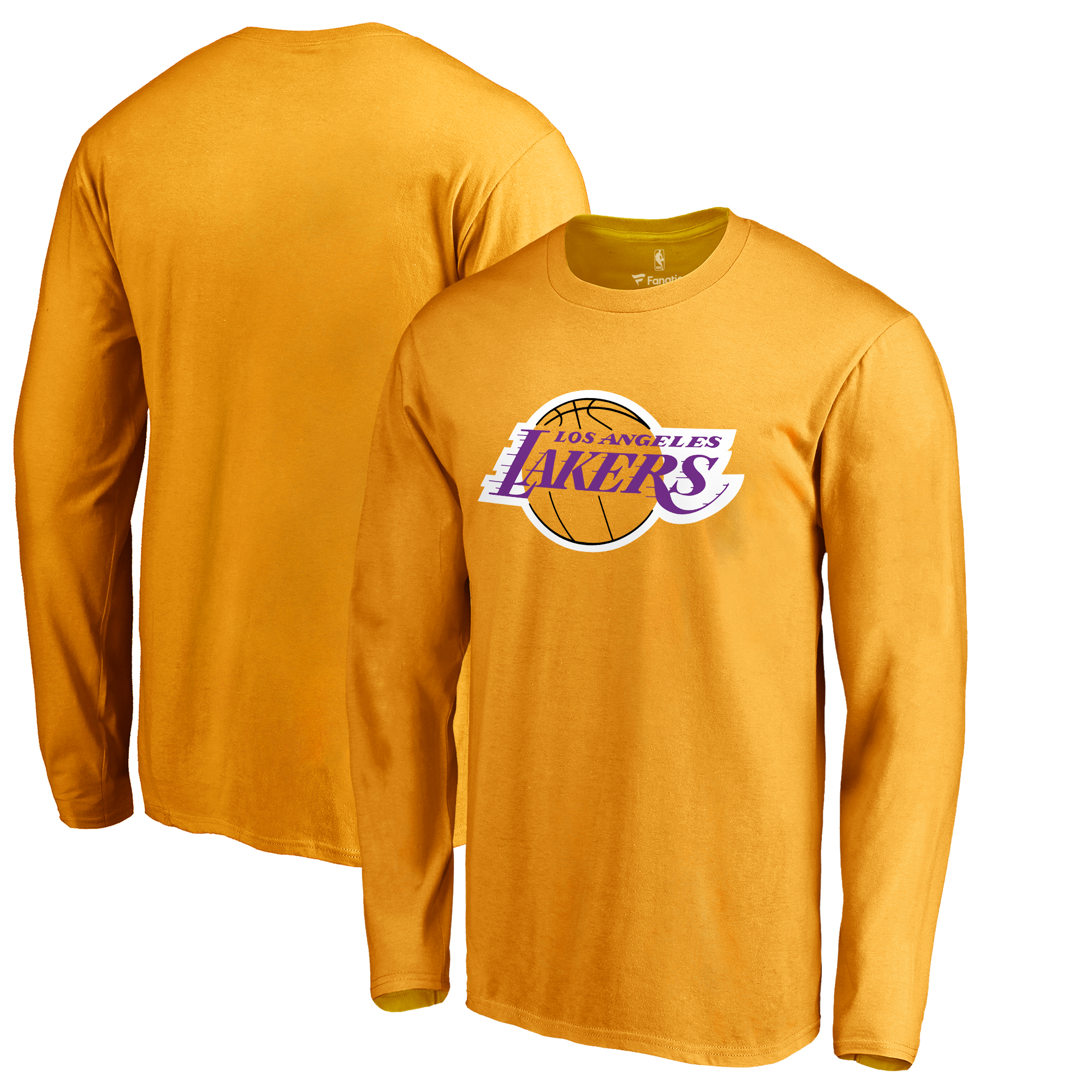 Los Angeles Lakers Primary Logo Long Sleeve T-Shirt - Gold