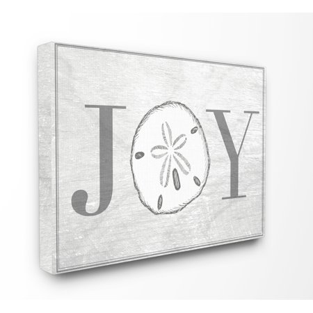 The Stupell Home Decor Collection Joyful Summer Sand Dollar Oversized Stretched Canvas Wall Art, 24 x 1.5 x 30