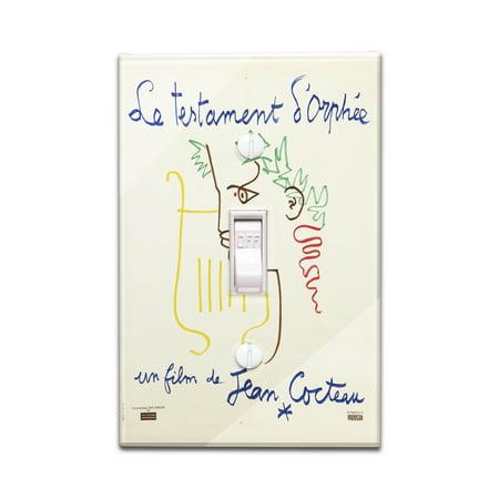 Le Testament d'Orphee Vintage Poster (artist: Cocteau, Jean) France c. 1959 (Light Switchplate Cover)