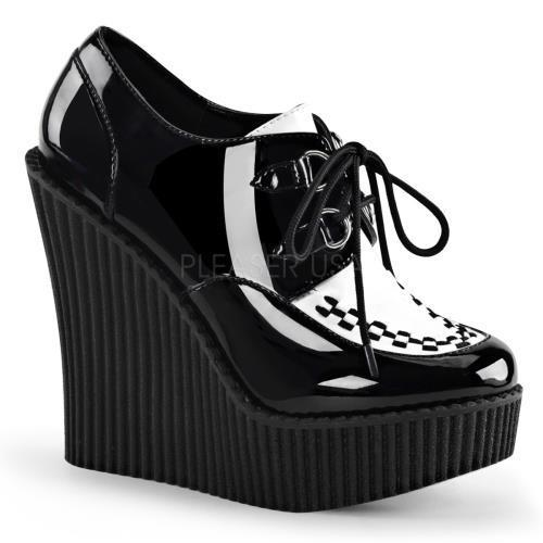 Demonia Creepers Womens CRE302 B-W Size: 7 by