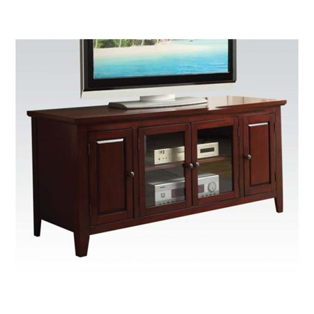 Acme Furniture Christella Glass Door TV Stand in Finish