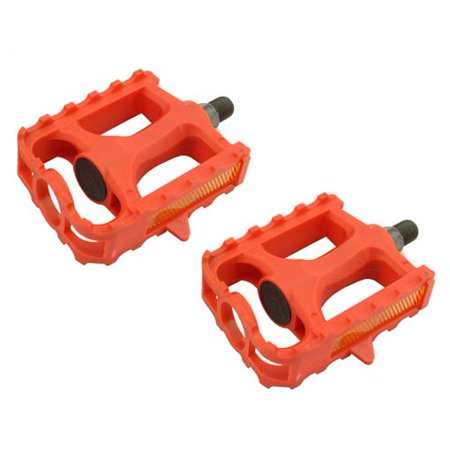 Plastic Mountain Bike Pedals, 1/2in Red