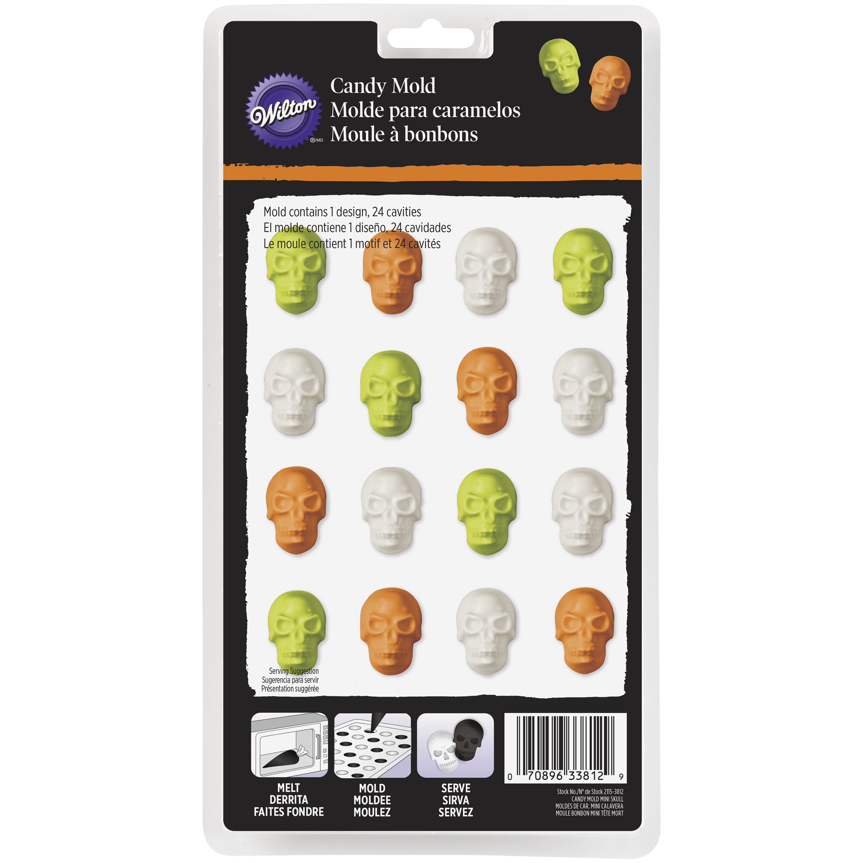 Click here to buy Wilton Mini Skulls Candy Mold, 24-Cavity by Wilton.