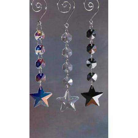 Star Hanging Crystals Chandelier, (Crystal Star Design)