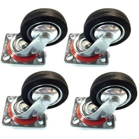 Caster 4 Rubber Wheel (4 Pack - 4