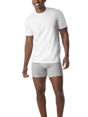 Hanes Mens SUPER VALUE 10-Pack ComfortSoft White Crew Neck T-Shirt