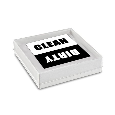 Clean Dirty Dishwasher Magnet comes Together with a Beautiful Box Perfect for Gifting. (Square Dishwasher Magnet 2.5 x 2.5 Inches)