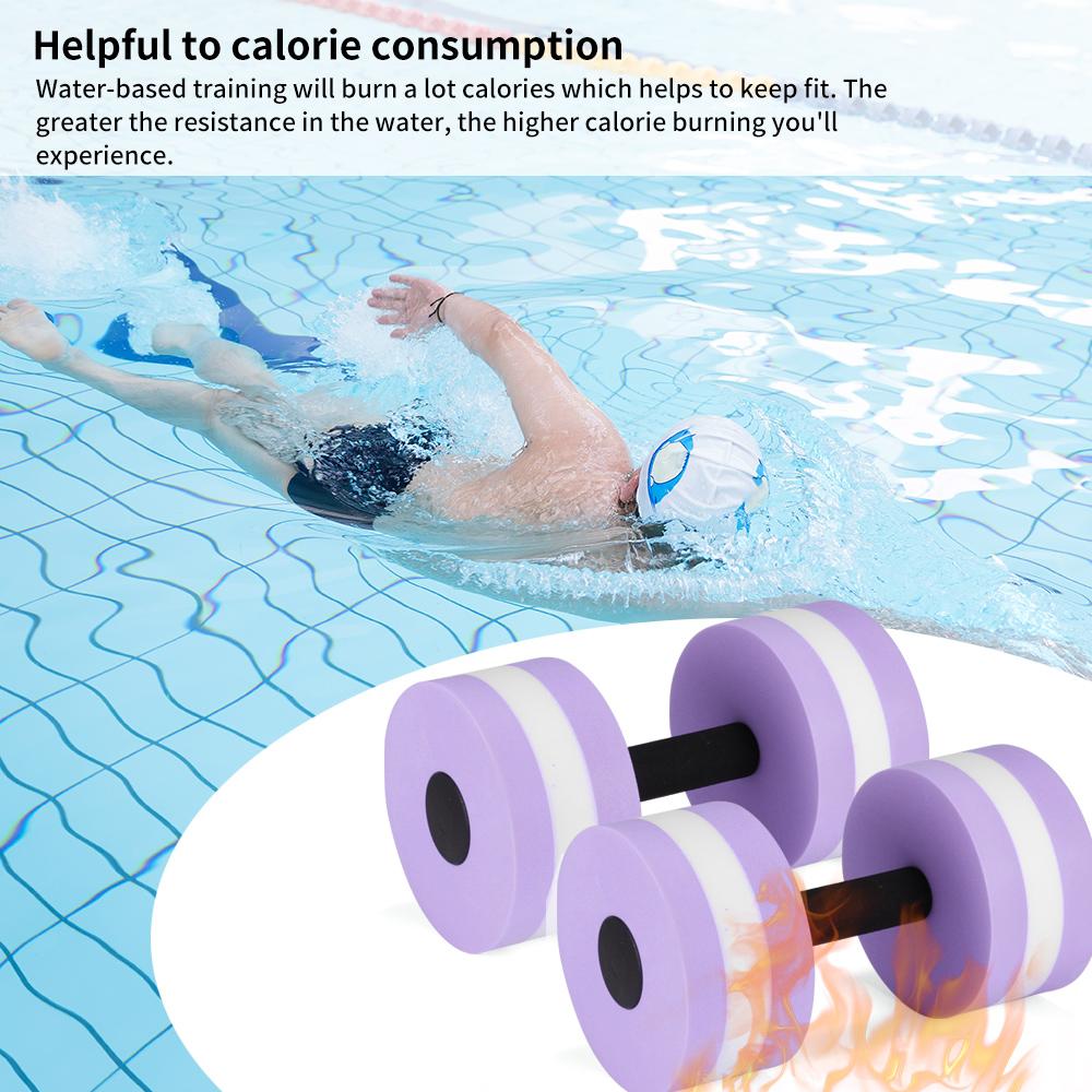 2PCS Aerobics Dumbbell EVA Aquatic Water Barbell Medium Fitness Pool Exercise
