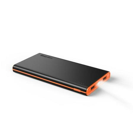 Easyacc 3Rd Gen 10000Mah Dual Usb Ports  3 1A Smart Output  Portable Power Bank Charger   Black And Orange