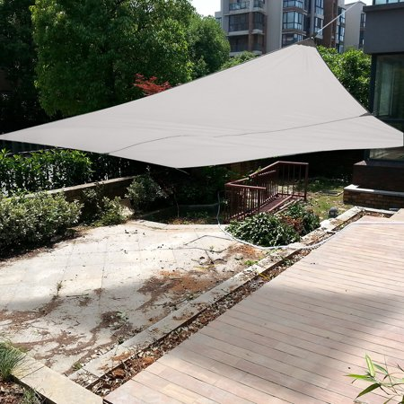 Walfront New Sand Sun Shade Sail Sunscreen Rectangle Polyester Awning Canopy Outdoor Garden Patio 3 4m