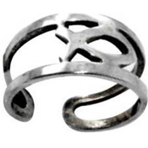 Toe Ring-Ichthus-(Sterling Silver)-Adjustable