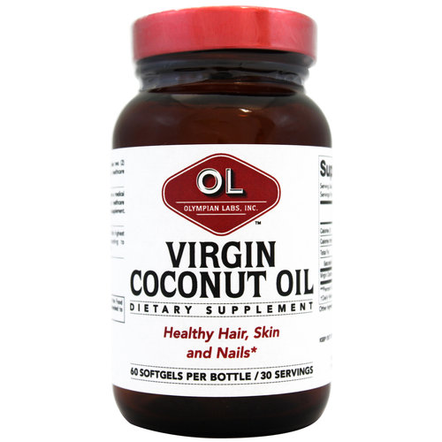 Olympian Labs Virgin Coconut Oil Dietary Supplement, 60 count