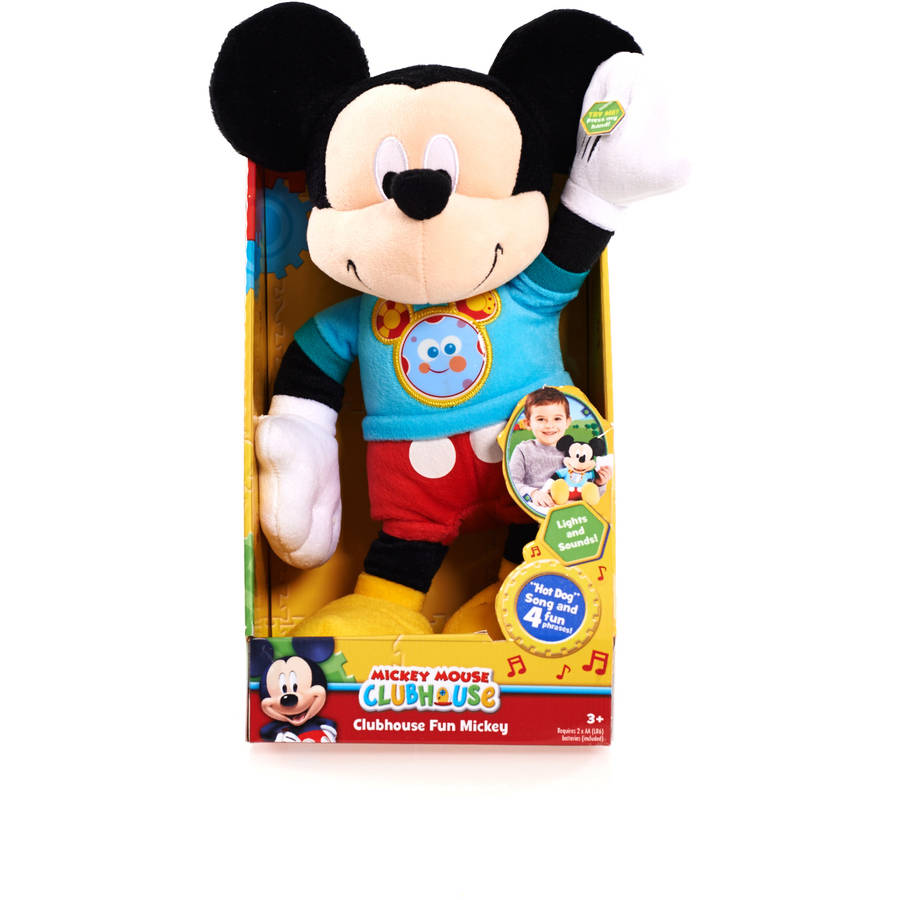 "Disney Clubhouse Fun Talking 11"" Plush Mickey"