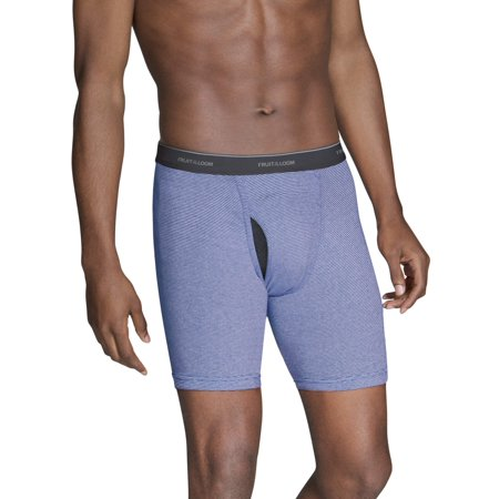 e40ebf5a6a Fruit of the Loom - Men s CoolZone Fly Dual Defense Stripe and Solid Boxer  Briefs