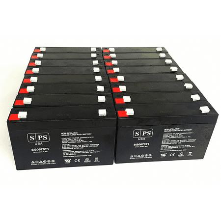 SPS Brand 6V 7 Ah Replacement Battery for Makita 9.6v BMR100, 9120, 6222D, 6260D, 6226D (16