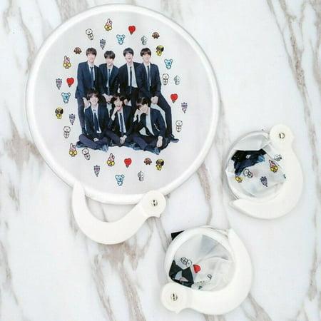 TURNTABLE LAB Portable Foldable Fan Kpop BTS Bangtan Boys JIMIN V SUGA Mini Hand Fan Summer US