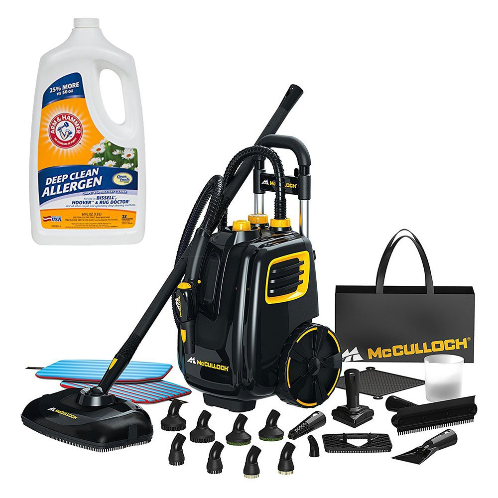 McCulloch Deluxe Canister Multi-Floor Steam Cleaner System w/ Carpet Cleaner