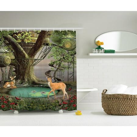 Deer Decor Tree Jungle Wildlife Enchanted Mystic Forest