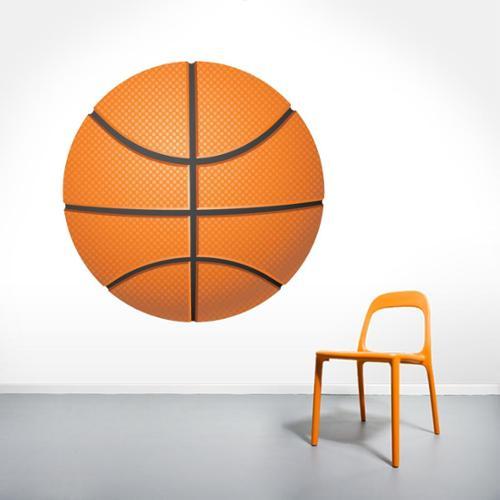 Sweetums Printed Basketball Wall Decal