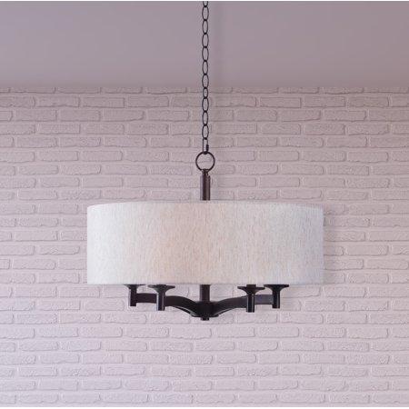 Classic Five Light Pendant - Kenroy Home Rutherford Oil Rubbed Bronze 5 Light Pendant