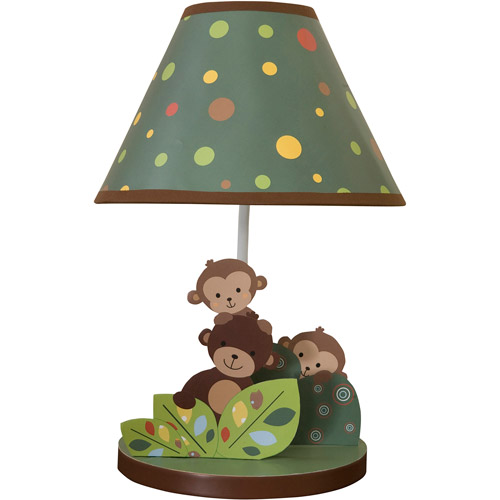 Bedtime Originals by Lambs & Ivy - Lamp with Shade & Bulb, Curly Tails