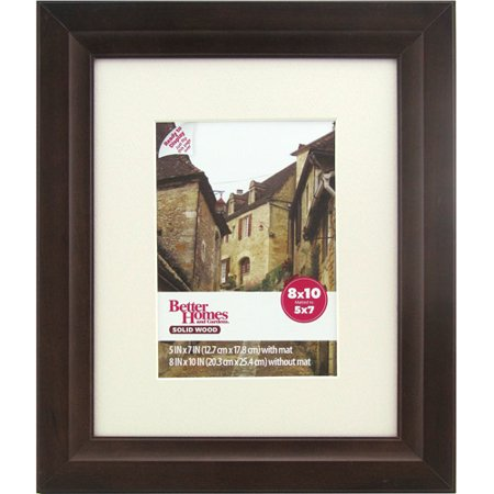 better homesgardens bhg 8x10 mat to 5x7 studio brown frame