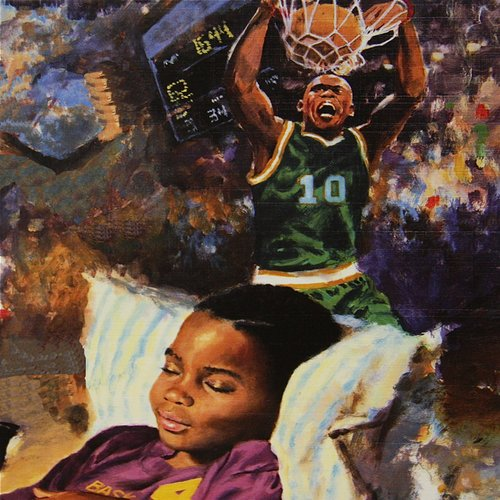 Buy Art For Less 'When I Grow Up I Want to Be a Football Player I' Oil Painting Print on Wrapped Canvas