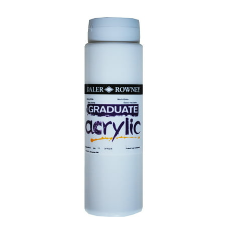 Daler-Rowney Graduate Acrylic, 500ml Bottle, Mixing White