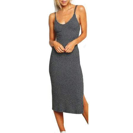 Stretch V-neck Camisole - Womens V Neck Tank Camisole Strappy Silm Dresses