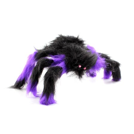 30CM Scary Bendable Realistic Fake Hairy Spider Plush Toys Halloween Party Decoration Prop Display, Random Color