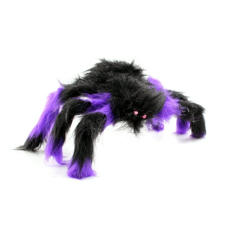 30CM Scary Bendable Realistic Fake Hairy Spider Plush Toys Halloween Party Decoration Prop Display, Random Color for $<!---->