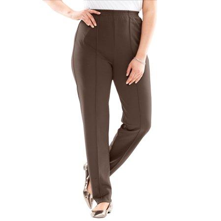 2076ce59c9a Roamans - Plus Size Creased-front Knit Pants - Walmart.com