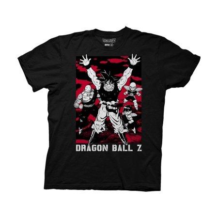 Dragon Ball Z Fighters Assemble Adult Black T Shirt  Medium
