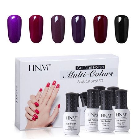c73b0ed808e HNM 8ML Nail Gel Polish Multi-Colors Manicure UV LED Soak Off 6 ...