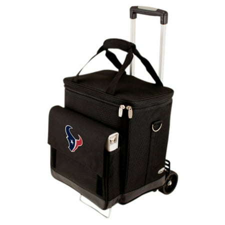 Picnic Time Cellar with Trolley, Black Houston Texans Digital Print