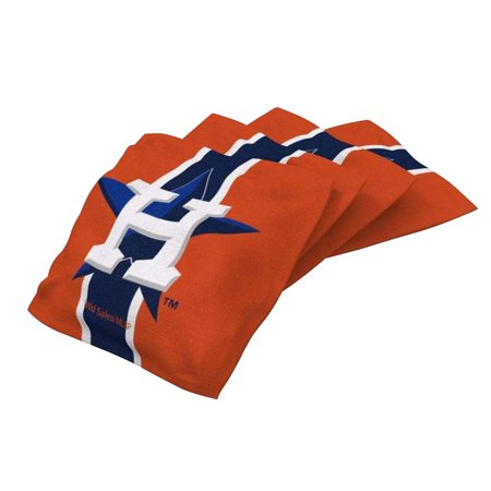 - Houston Astros 4-Pack Striped Alternate Cornhole Bean Bags Set - No Size