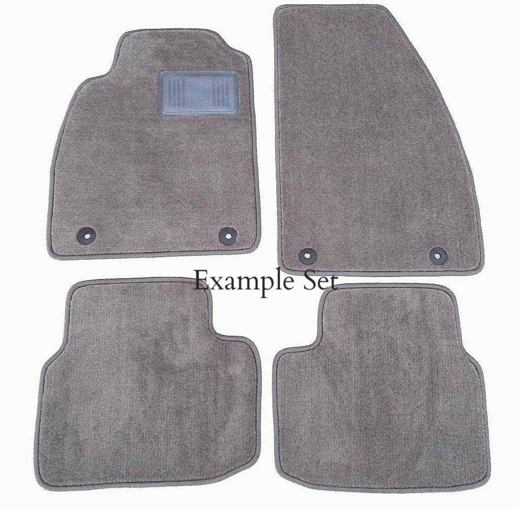 Custom Fit Gray Carpet 4 Piece Floor Mat Set with Heel Pad & Serged Edging - Fits Volvo 940 1994-1995