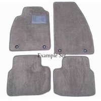 Custom Fit Gray Carpet 4 Piece Floor Mat Set with Heel Pad & Serged Edging - Fits Volvo S80 2007-2016