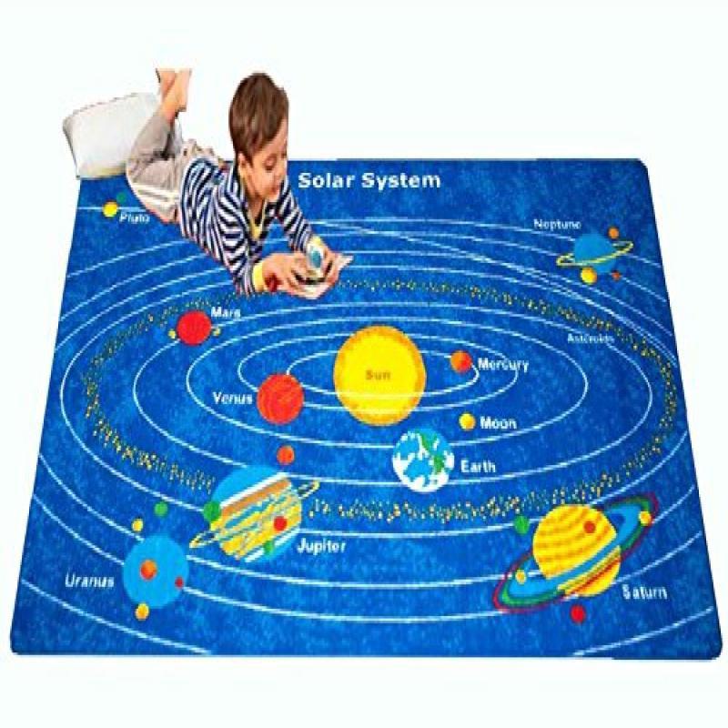Paradise Kids Area Rug - Solar System Design (5 Ft. X 7 Ft.)