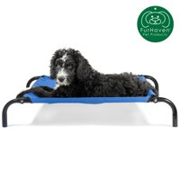 FurHaven Pet Dog Cot   Elevated Reinforced Pet Cot for Dogs & Cats, Deep Blue, Small