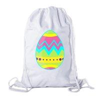 Easter Basket Backpack Bulk Cotton Drawstring Cinch Bags Easter Bunny Gift Bags - Giant Egg