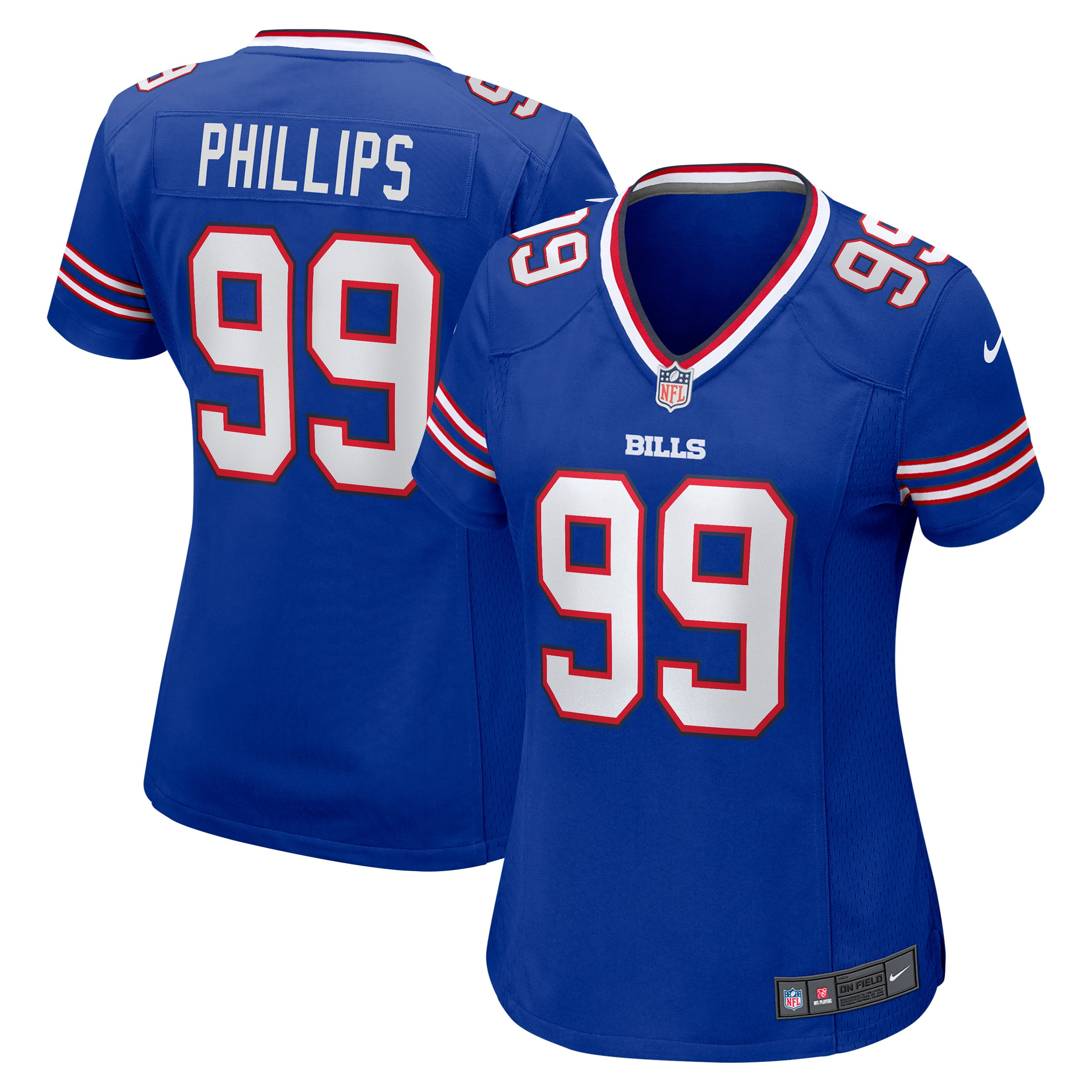 Harrison Phillips Buffalo Bills Nike Women's Game Jersey - Royal - Walmart.com