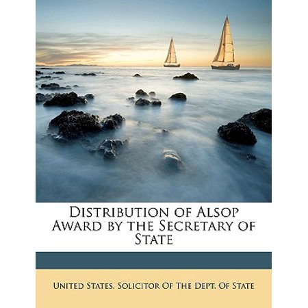 Distribution of Alsop Award by the Secretary of State